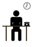 Büroangestellter lizenzfreie abbildung