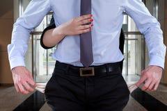 Büroangestellter bankrott Stockbild