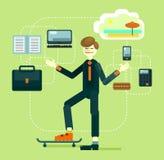 Büroangestellter mit Geschäftsattributen Lizenzfreie Stockbilder