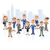 Büroangestelltsitzung Lizenzfreies Stockbild