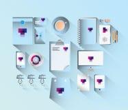 Bürobriefpapier im Blau Stockfoto