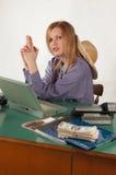 Bürocowgirl Lizenzfreies Stockfoto