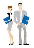 Bürodame-Büromann Lizenzfreie Stockfotos