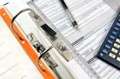Bürodatei mit Dokumenten Stockfotos