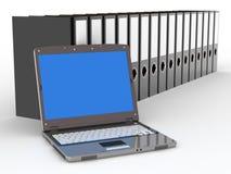 Bürodateien und -notizbuch lizenzfreie abbildung