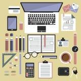 Bürodesktopansicht Lizenzfreies Stockfoto
