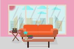 Büroempfangszimmer, Geschäftsbeziehungen zu begrüßen - vector Geschäft Stockbild