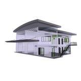 Bürogebäude der Architektur 3D Stockfoto