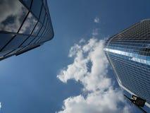 Bürogebäude im Finanzbezirk von Frankfurt, Deutschland Lizenzfreie Stockbilder