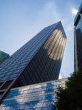 Bürogebäude im Finanzbezirk von Frankfurt, Deutschland Stockbild