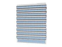 Bürogebäude lokalisiert auf weiß- Wiedergabe 3d Lizenzfreie Stockfotografie