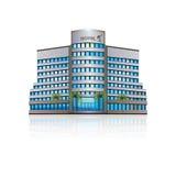 Bürogebäude mit Reflexion und Input Lizenzfreies Stockbild