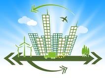 Bürogebäude-Show-Planungs- und Führungsstäbe und Gesellschaften Stockbilder