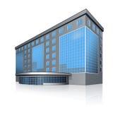 Bürogebäude und der Eingang mit Reflexion Stockbild