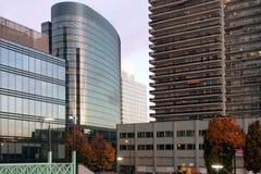 Bürogebäude und Wohnungen, Brüssel, Belgien Stockfotografie