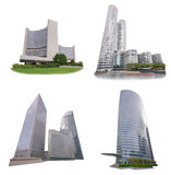 Bürogebäudesatz lokalisiert auf weißem Hintergrund Lizenzfreie Stockfotos