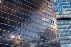 Bürogebäudewand Stockfotografie