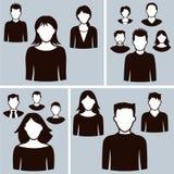 Bürogeschäftsleute Ikonen Lizenzfreies Stockfoto