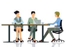 BüroGeschäftstreffen lizenzfreie abbildung