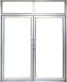 Büroglastür und -fenster mit Kopienraum Stockbilder