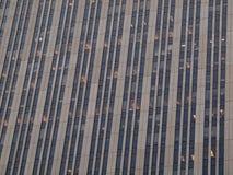 Bürohaus-Fenster-Muster Lizenzfreies Stockbild