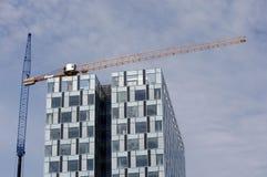 Bürohaus im Bau Stockfoto