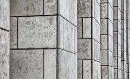 Bürohaus-Stein-Pfosten Stockbild