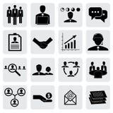 Büroikonen (Zeichen) von Leuten u. von Konzepten für kommerzielle Grafik stock abbildung
