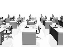 Büroinnenraum, Teamwork. Lizenzfreie Stockfotografie