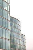 Bürokontrolltürme auf Weiß Stockbild