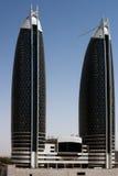 Bürokontrolltürme in Dubai Stockfotografie