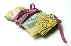 Bürokratie-Geldbündel Stockfoto