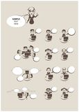 Büroleute-Ikonensatz Stockbilder
