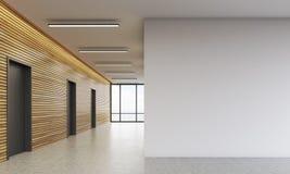 Bürolobby mit weißer Wand vektor abbildung