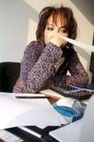 Büromädchen lizenzfreie stockfotografie