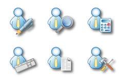 Büromannaktivitäten Stockfoto