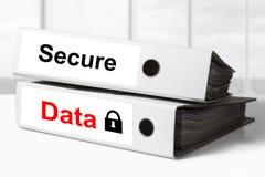 Büromappen sichern Datenverriegelung Stockfoto