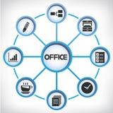 Büronetzdiagramm Stockfotos