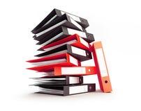 Büroordnermappen auf einer weißen Illustration des Hintergrundes 3D, Wiedergabe 3D stock abbildung
