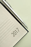 Büroorganisator 2017 des neuen Jahres Lizenzfreie Stockfotografie