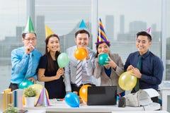 Büropartei Stockbilder