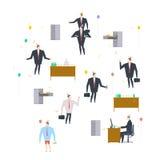 Büropartei Feiertag bei der Arbeit Geschäftsmann auf dem Fest feierlich lizenzfreie abbildung