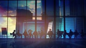 Büropersonal und ihr Führer vektor abbildung