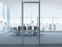 Bürorauminnenraum Stockfoto