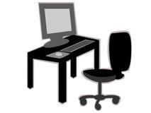 Büroschreibtisch mit Stuhl Stockfotografie