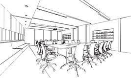 Büroskizze Stockfoto