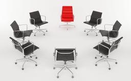 Bürostühle als Kreis Stockfoto