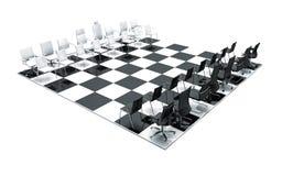 Bürostühle auf Schachvorstand Lizenzfreies Stockfoto