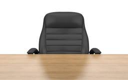 Bürostuhl am Tisch Lizenzfreies Stockfoto
