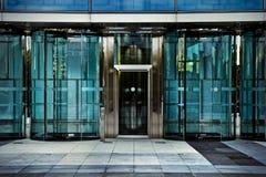 Bürotür, Geschäftsgebäude in Madrid, Spanien Stockfoto